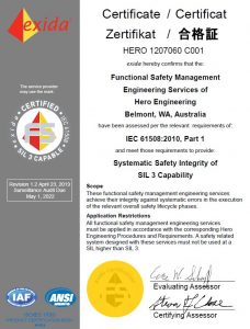 Hero Engineering SIL3 Exida Certificate